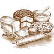 Baked Goods Art Print