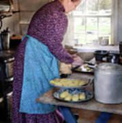 Baker - Preparing Dinner Art Print