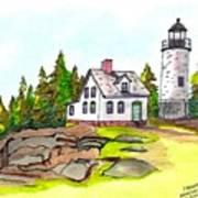 Baker Island Bar Harbor Maine Art Print