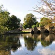 Bakewell Bridge And The River Wye Art Print