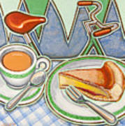 Bakewell Pudding And Cup Of Tea At Eroica Britannia  Art Print