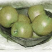Baking Apples Art Print