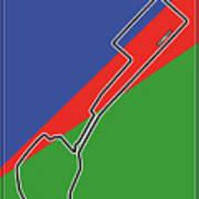 Baku Race Track Art Print