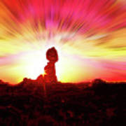 Balanced Rock Sunset - Fire In The Sky Art Print
