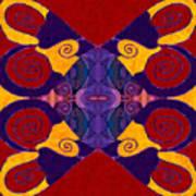 Balancing Affections Abstract Bliss Art By Omashte Art Print