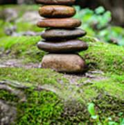 Balancing Zen Stones IIi Art Print