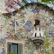 Balcionies Of Casa Batllo In Barcelona, Spain Art Print