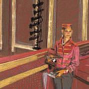 Balcony Usher Art Print