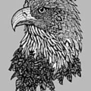Bald Eagle Zentangle Art Print