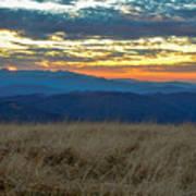 Bald Mountain Sunset Art Print