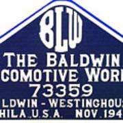 Baldwin Diesel Builders Plate Art Print
