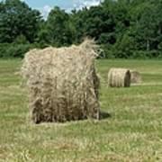 Bales Of Hay In New England Field Art Print