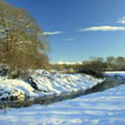 Balheary  Demesne In The Snow Art Print