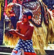Bali Barong And Kris Dance  - Paint Art Print
