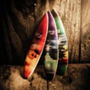 Bali Beach Surf Holiday Scene Art Print