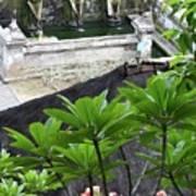 Bali Lady Fountain Art Print