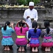 Bali Temple Women Blessing Art Print