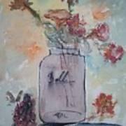 Ball Jar Vase Art Print