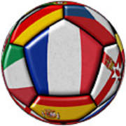 Ball With Flag Of France In The Center Art Print