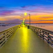 Ballast Point Sunrise - Tampa, Florida Art Print