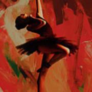 Ballerina Dance 0800 Art Print