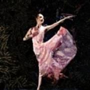 Ballerina Dancing Expressive Art Print