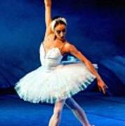 Ballerina On Stage L B Art Print