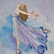 Ballerina Performs Art Print