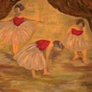 Ballerinas With Blue Hair Art Print
