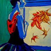 Ballerine En Automne Art Print