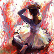 Ballet Dancer Siting  Art Print