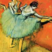 Ballet Dancers At The Barre Art Print