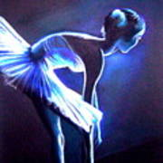 Ballet In Blue Art Print
