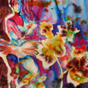 Ballet With Orchids Art Print