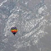 Ballon Verses Mountain Art Print