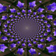 Balloon Flower Kaleidoscope Art Print