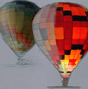 Balloon Glow Art Print