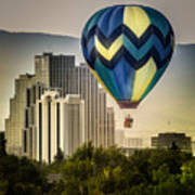 Balloon Over Reno Art Print