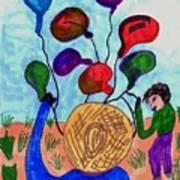 Balloon Sales Art Print