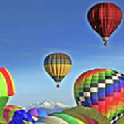 Ballooning Above Longs Peak Art Print