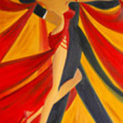 Ballroom Dancing Tango Art Print