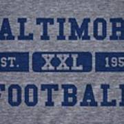 Baltimore Colts Retro Shirt Art Print