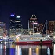 Baltimore Harbor At Night Art Print