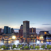 Baltimore Harbor Art Print by Shawn Everhart