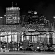 Baltimore Lights Up Brightly Art Print