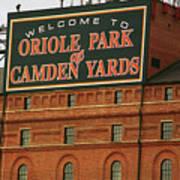 Baltimore Orioles Park At Camden Yards Art Print
