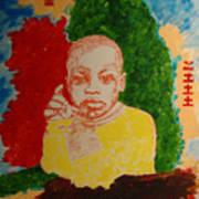 Bambino with colors Art Print