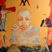 Bambino with dancers Art Print