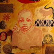 Bambino with red gondola Art Print