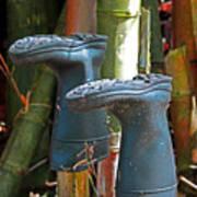 Bamboo Boots Art Print